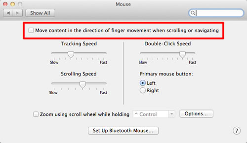 Mouse scrolling