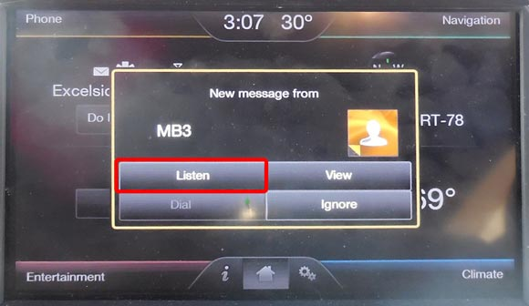 Ford Sync: new-message alert