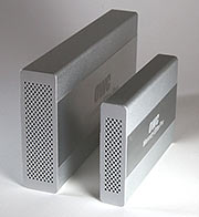 Two external drive enclosures