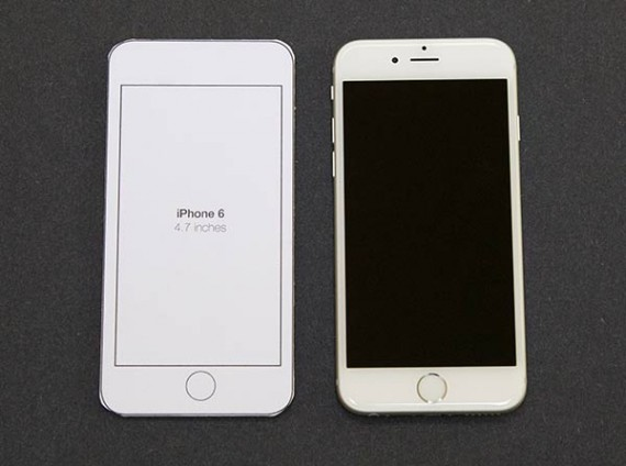 iPhone 6 vs. cardboard template