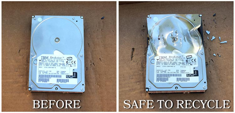 How to remove data from hard drive